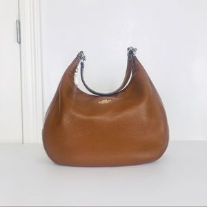 Coach Bags - Coach Harley Saddle Pebble Leather Hobo Bag